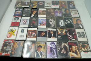 Huge-Lot-40-Vtg-Cassette-Tapes-Original-Insert-Most-Tested-Country-Pop-70s-80s