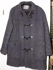 Mantaray Mens Original Dark Grey Duffle Coat with hood Size XL