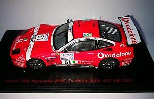 Ferrari 550 Maranello Bms Scuderia Italie # 51 Le Mans 2005 Red Line 1/43