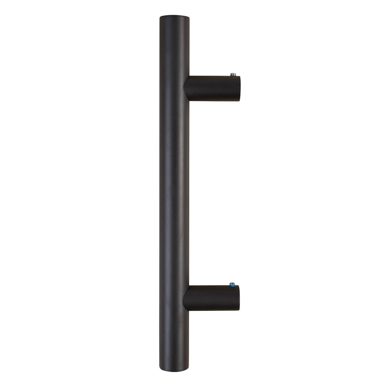 Edelstahl Stoßgriff schwarz Haustürgriff 350x210mm Türbeschlag Stangengriff
