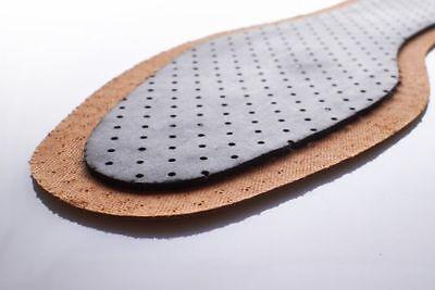 Zapatos Plantillas Unisex carbón activo de cuero genuino botas de suela interior Tamaños 3-12
