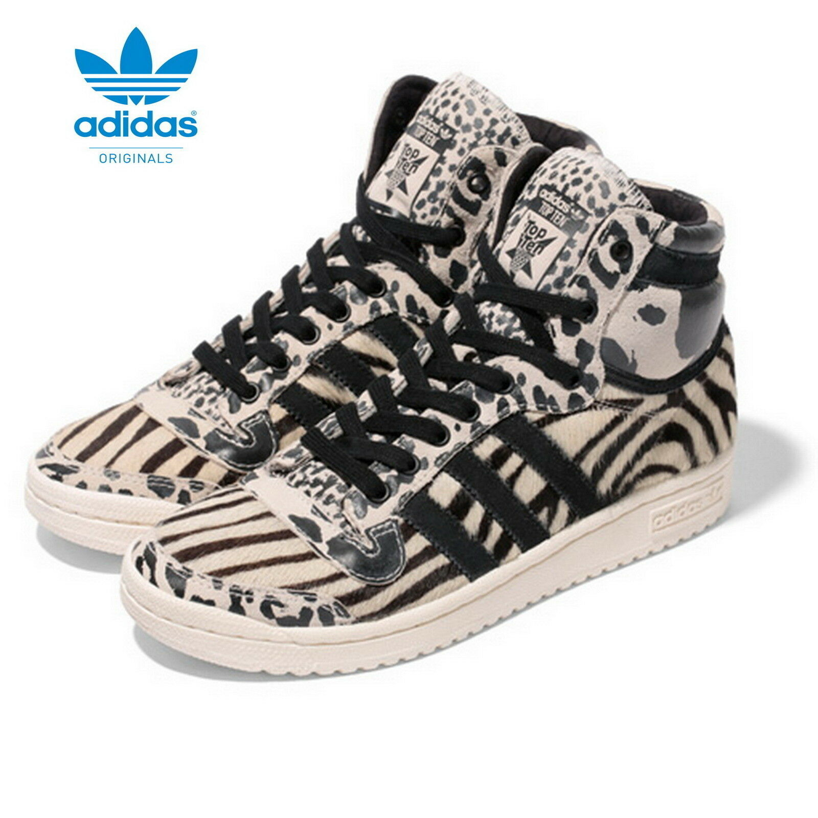 Adidas top ten Hi señora Originals animal patrón m25118 neu&ovp