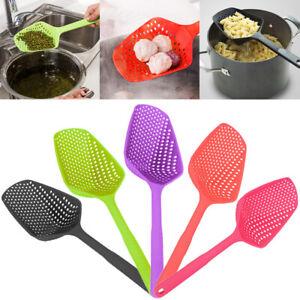 Spoon-Food-Strain-Drain-Pasta-Basket-Scoop-Colander-Strainer-Large-Durable