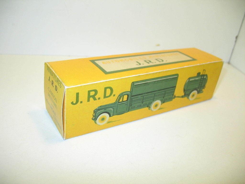 N140, Schachtel repro citroen P55 Militär mit Anhänger Tank, JRD