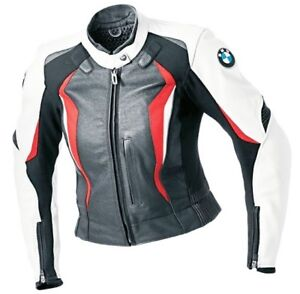 dames bmw v tement en cuir motorbike femmes bmw biker cuir veste moto cuir veste ebay. Black Bedroom Furniture Sets. Home Design Ideas