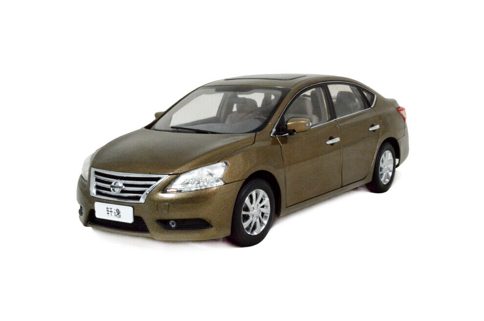 1 18 1 18 Scale Nissan Sylphy blueebird 2012 gold Diecast Model Car Paudimodel
