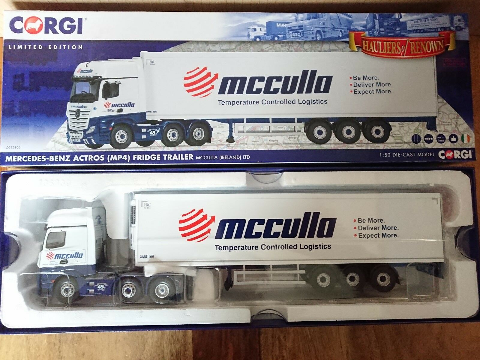 Corgi CC15805 Mercedes Actros MP4 Fridge Trailer MCCULLA Ltd Ed No. 482 of 800