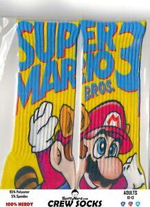 Super-Mario-Bros-3-Nintendo-NES-80-039-s-Retro-Video-Game-Adult-Crew-Socks