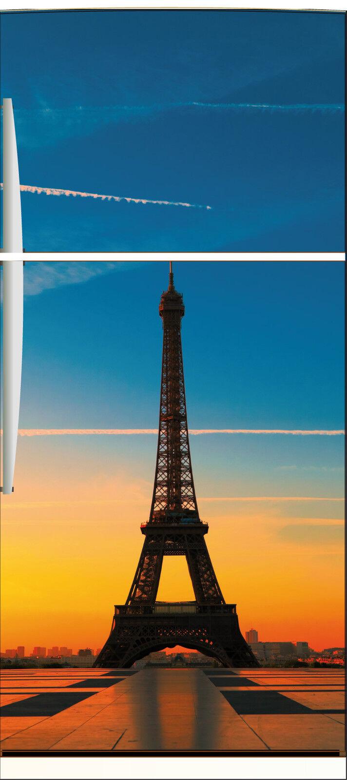 Aufkleber Kühlschrank Haushaltsgeräte Dekor Küche Eiffelturm 70x170cm Ref 536