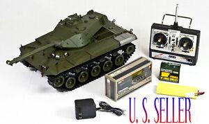 1-16-US-M41A3-Light-Tank-Walker-Bulldog-Heng-Long-RC-AIRSOFT-TANK-SMOKE-amp-SOUND