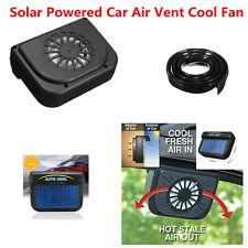 Black Solar Powered Car Air Vent Cool Fan Auto Fan for Car Front Rear Window