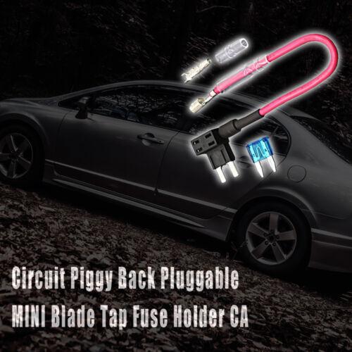 1x Small ACS Add A Circuit Piggy Back Pluggable MINI Blade Tap Fuse Holder Tool