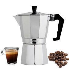 VonShef 3 Cup/150ml Italian Espresso Stove Top Coffee Maker Percolator Pot