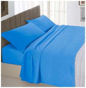Completo-letto-matrimoniale-2-piazze-azzurro-cotone-set-lenzuola-federa-parure