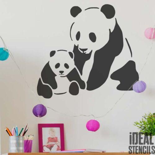 Panda Bär Schablone Heim Dekoration Kinderzimmer Malerei Wände Stoffe Möbel Tier
