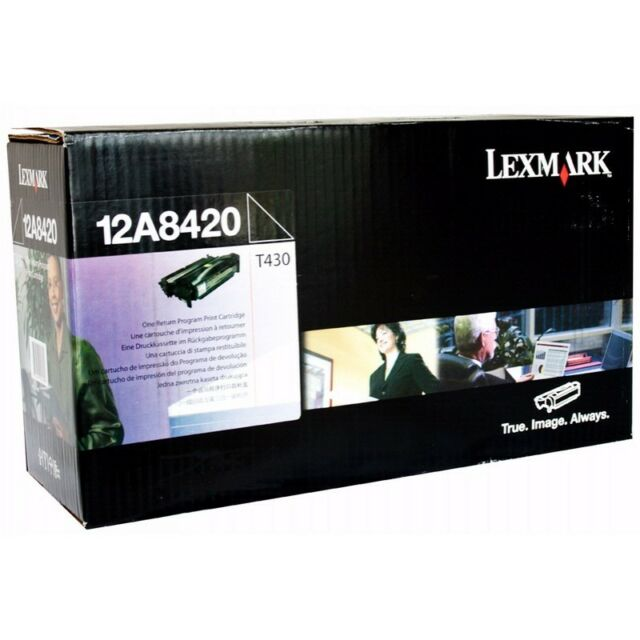 Lexmark Toner Black 12A8420 T430 T430d T430dn ca.6000 Pages A-Ware Boxed