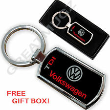 VW VOLKSWAGEN TDI CAR KEYRING KEY CHAIN RING FOB CHROME METAL NEW