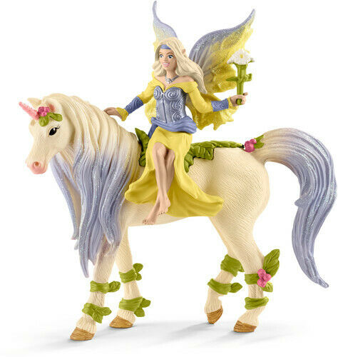 Fairy Sera With Blossom Unicorn - Schleich (Toy New)
