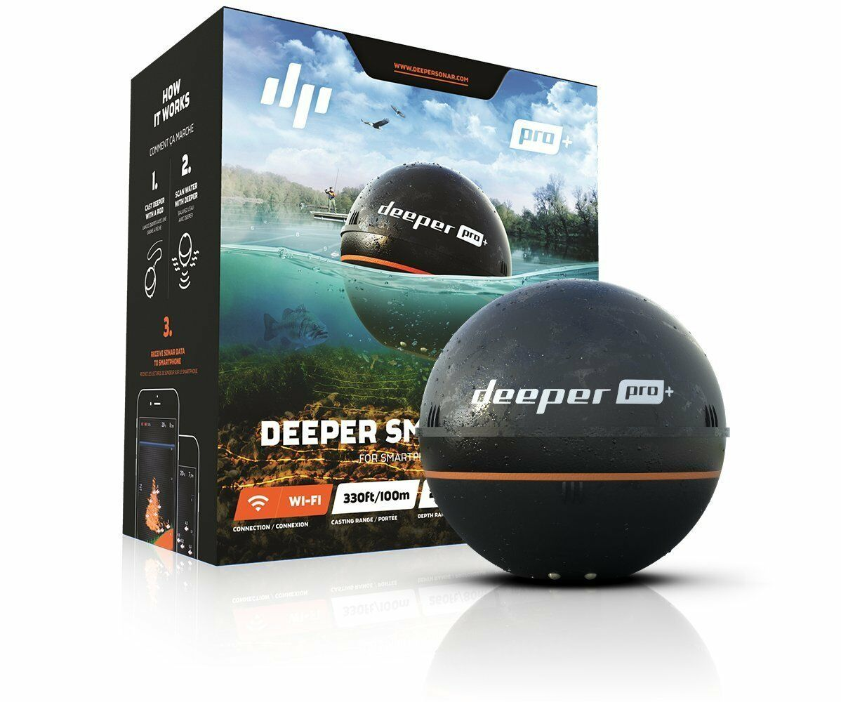 NEW DEEPER SMART SONAR PRO+ 2.55  WI-FI  GPS FISHFINDER FOR IOS   ANDROID  shop online today