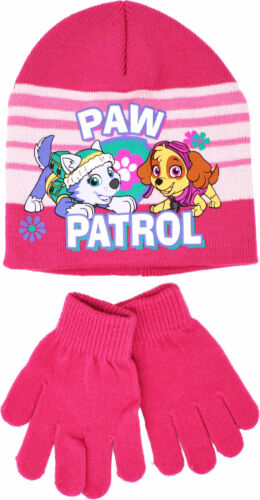 Nickelodeon filles Paw Patrouille Chapeau Gants Set Skye EVEREST Hiver Beanie Ages 2-8
