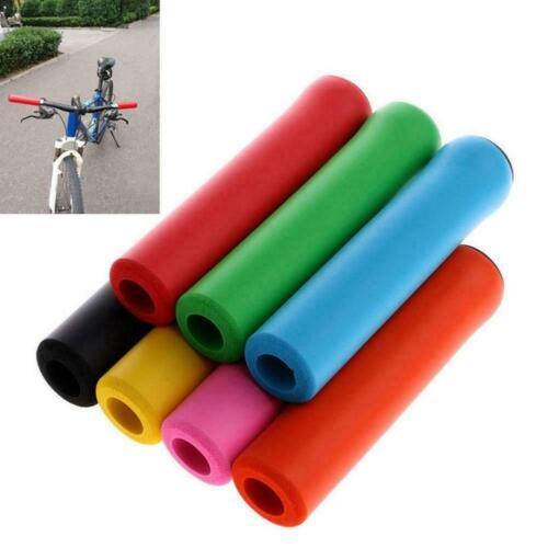 1 Paar Fahrrad Lenkergriffe Abdeckung Silikon Fahrrad Anti-Rutsch-Hülse W4S2