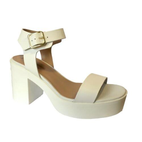 Ladies Girls Chunky Heels Platform Peep Toes Sandals Shoes Pumps UK 7 RRP £35
