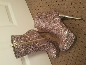 Heeled New 39 Size Glitter Boots 6 Schuh 5YzwqW