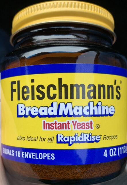 Fleischmann's Bread Machine Instant Rapid Rise Yeast 4 oz ...