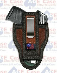 TUCK-ABLE-IWB-LEATHER-CONCEALED-CARRY-HOLSTER-FITS-GLOCK-SIG-XD-TAURUS-S-amp-W