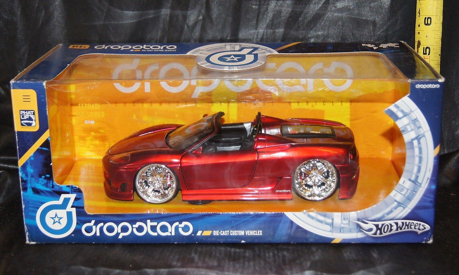 heta hjul Dropstjärnas i mellanskala (ungefär 1 20) röd Ferrari 360 Spider
