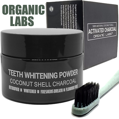 Black Charcoal Teeth Whitening Toothpaste Tooth Powder Free