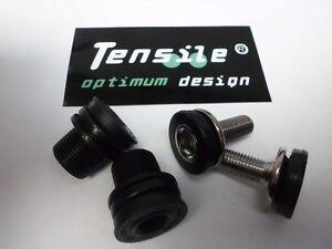 Tensile-Crank-Retaining-Bolts-Pr-8mm-15mm-Tuf-Lite-Chromo-Steel-Chrome-Black-NEW