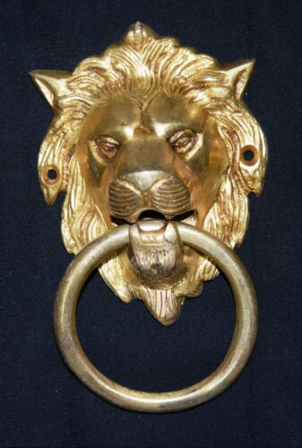 Lion Head Shape Door Knocker Victorian Style Brass Home Door Knocker Door Bell
