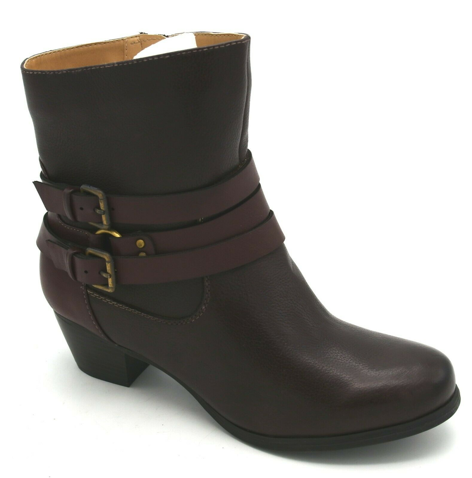 J7967 New Women's Naturalizer Katrina Brown Ankle Bootie 7.5 M