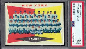 1960-Topps-332-Yankees-Team-PSA-7-NM-w-bold-colors-TX9754LXMTT-C