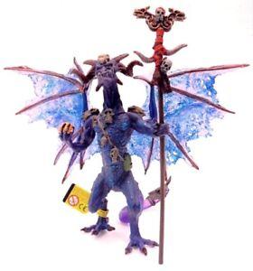 """PLASTOY 60229 /"""" Drago gran Sacerdote translucido viola/"""" cm 23x12x16h fantasy"""