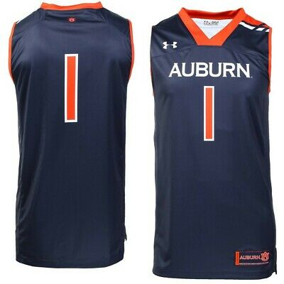 Men S Under Armour Auburn Tigers 1 Basketball Jersey Navy Size Large Ebay
