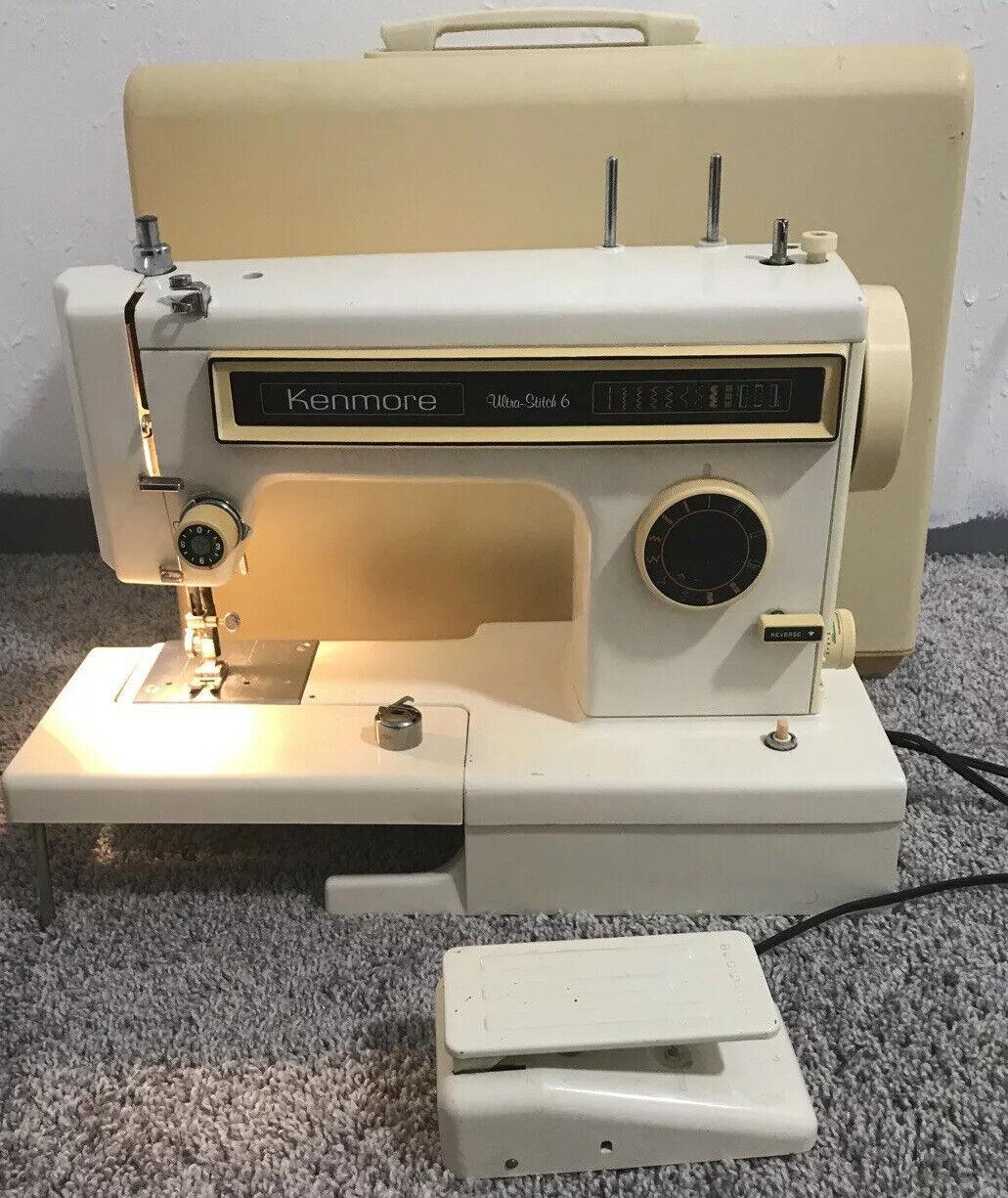 s l1600 - Sears Kenmore 158.1340280 Ultra Stitch 6 Sewing Machine & Pedal Free Arm ZigZag