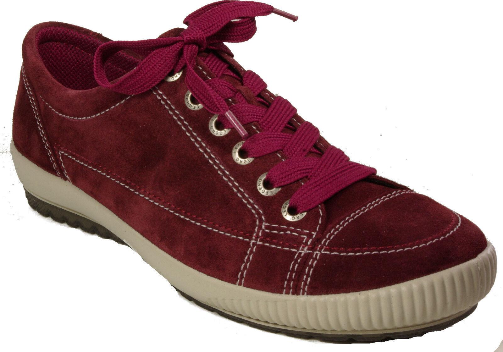Legero zapatos zapatillas zapato bajo schnürzapatos rojo rojo rojo rubin cuero cambio plantilla nuevo  buscando agente de ventas