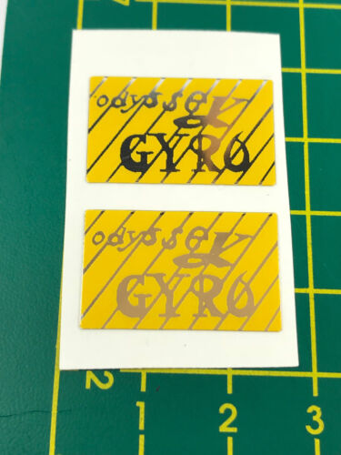 old school bmx decals stickers odyssey gyro cable decals pair yellow chrome