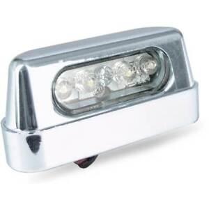 LUCE-TARGA-LED-BIANCO-COLORE-CROMO-12V-UNIVERSALE-MOTO-CUSTOM-SCOOTER-ATV