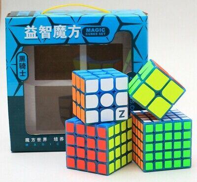 4pcs//set Speed Cube Magic Rubix Cube 2*2,3*3,4*4,5*5 Cube Easy Turning Toys US .