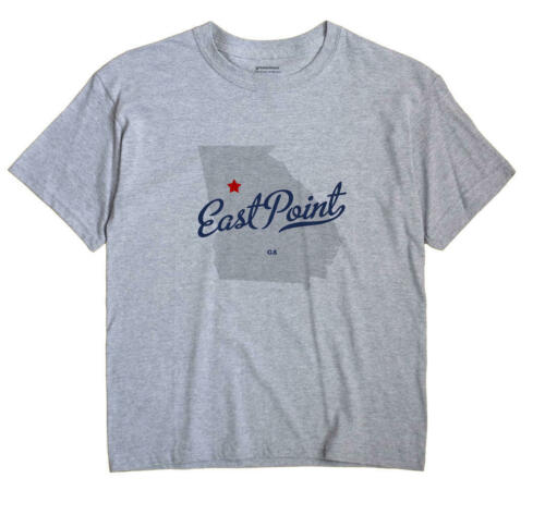 East Point Georgia GA T-Shirt MAP