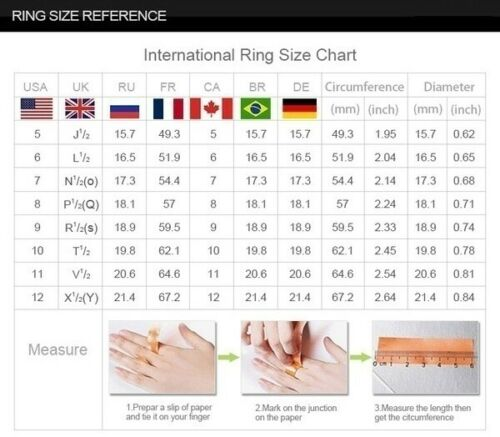 925 Sliver Moonstone CZ Elegant Women Men Bridal Wedding Ring Gift Jewelry #6-10