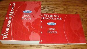 2007 ford focus shop service manual wiring diagram set 07 ebay rh ebay co uk Ford Focus Motor Mounts Diagram 2007 Ford Focus Service Manual