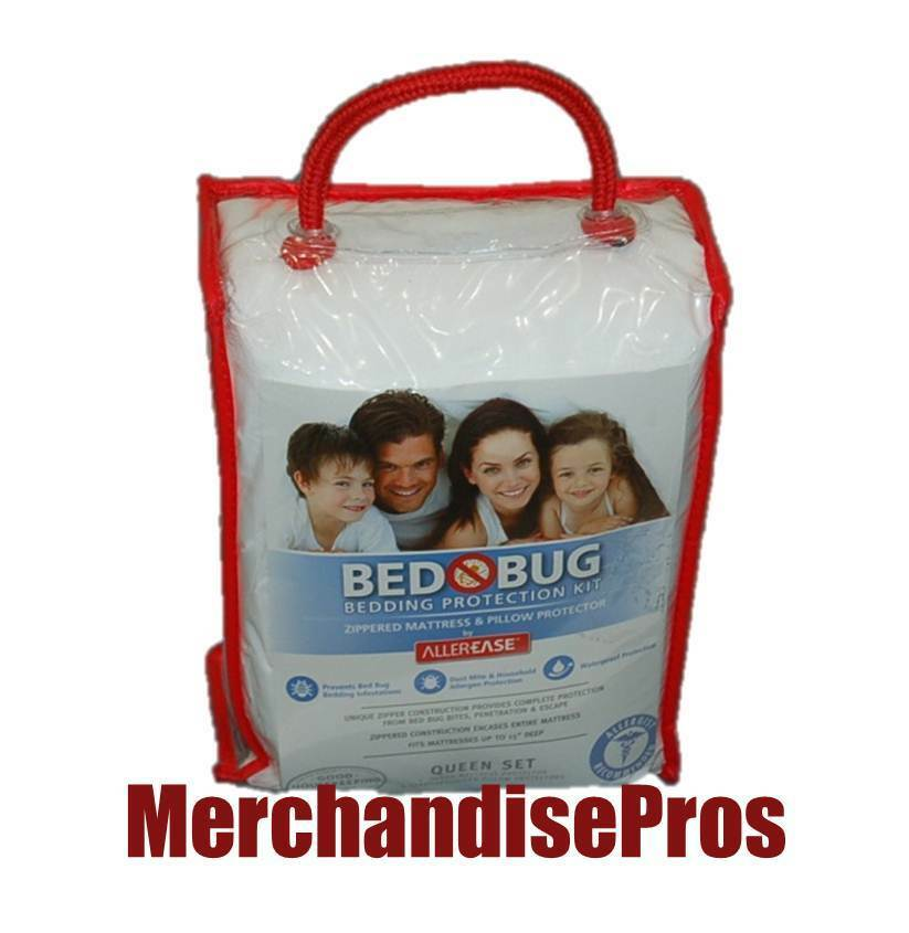BED BUG BEDDING PROTECTION KIT PROTECTS QUEEN BED MATTRESS & PILLOWS  NEW