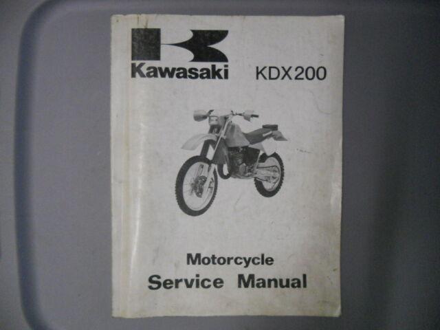 Kawasaki Factory Service Repair Shop Manual 1987 Kdx200 C3