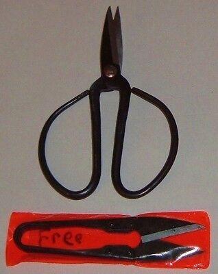 Bonsai Scissors Shears Prune Trim Bud Craft Garden +FREE Mini Leaf Snips Cut NEW