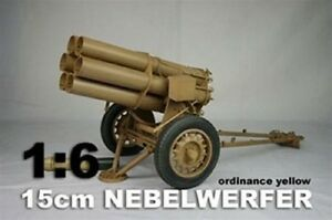 WWII Nebelwerfer Panzar Metal Construction in Yellow Color 1/6th Scale by DID