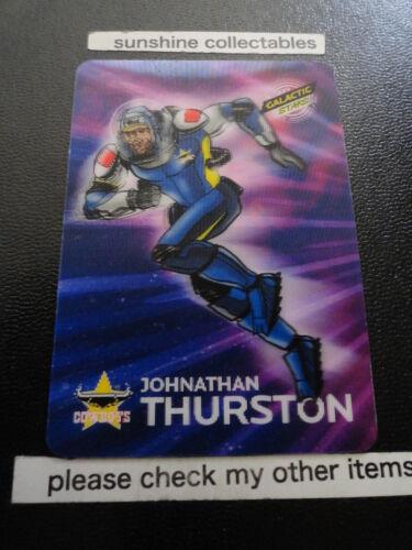 2014 NRL TRADERS GALACTIC STARS 3D ALBUM CARD AGS4 JOHNATHAN THURSTON COWBOYS